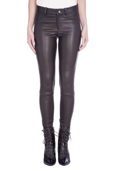SET - Leren Legging Jeans - Zwart