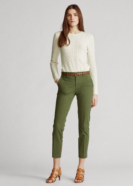 Ralph Lauren Bi-Stretch Twill Trouser- Dark Sage