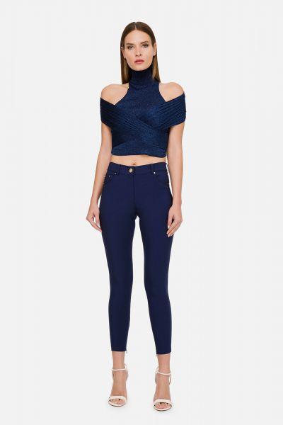 Elisabetta Franchi Skinny Stretch Pants - Blauw