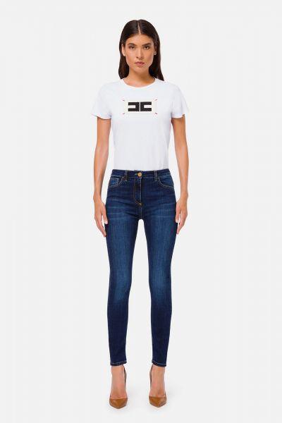 Elisabetta Franchi High Waist Skinny Jeans