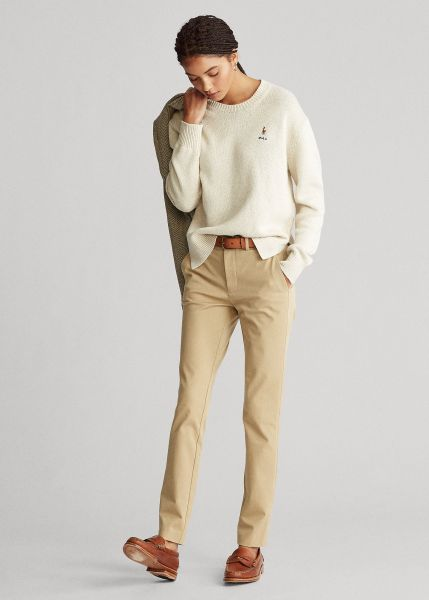 Ralph Lauren Bi-Stretch Twill Trouser- Luxury Tan