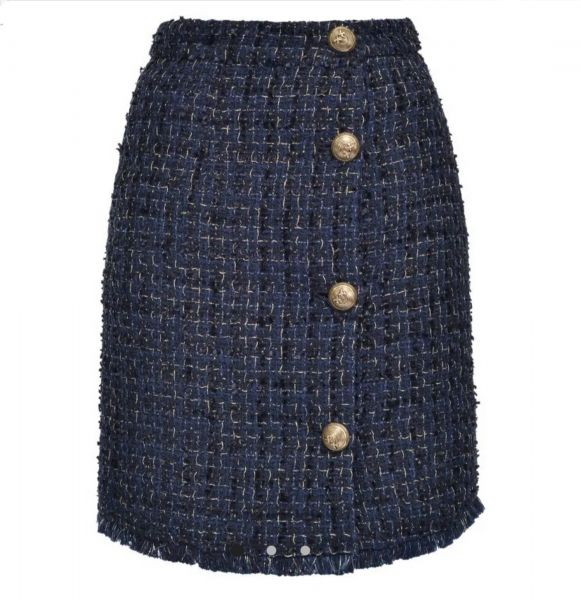 Pinko Tweed Lurex Skirt
