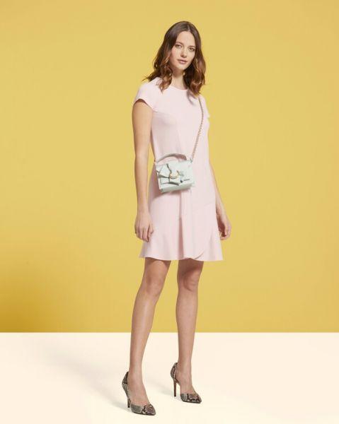 Paule Ka satin-back crepe dress- Rose