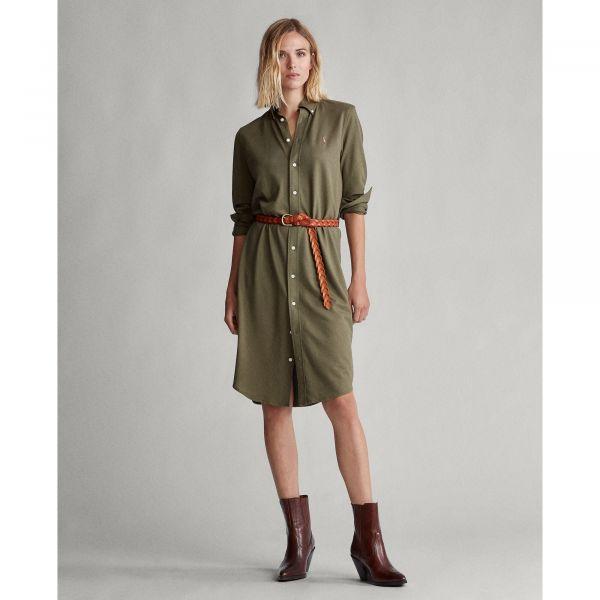 Ralph Lauren Long Polo Dress- Army Green