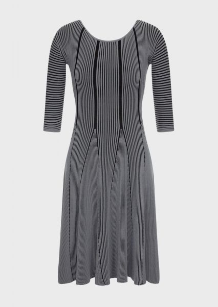 Emporio Armani Knitwear Jurk - Smoke Grey Met Zwart