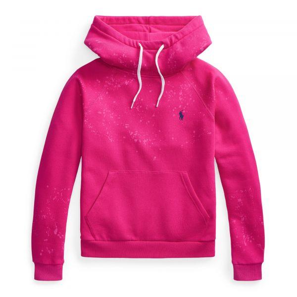 Ralph Lauren Acid Wash Fleece Hoodie - Pink