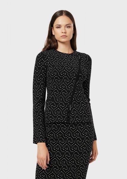 Emporio Armani Knitwear Jasje - Zwart