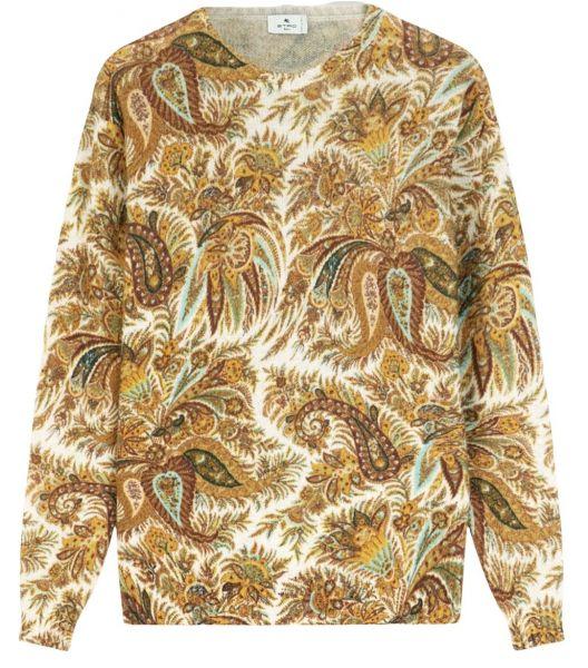 Etro Floral Wool Jumper - Camel