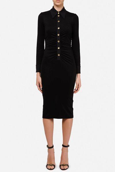 Elisabetta Franchi Fitted Jersey Dress - Black