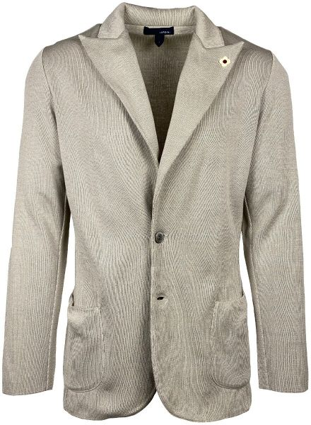 Lardini Knitted Cotton Jacket - Beige