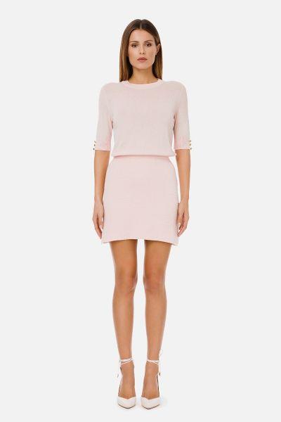 Elisabetta Franchi Knitted Dress - Old Pink