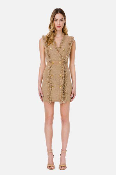 Elisabetta Franchi Sleeveless Coat Dress