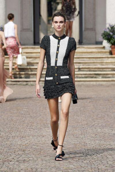 Catwalk Item: Elisabetta Franchi Structured Mini Dress in Knit Fabric