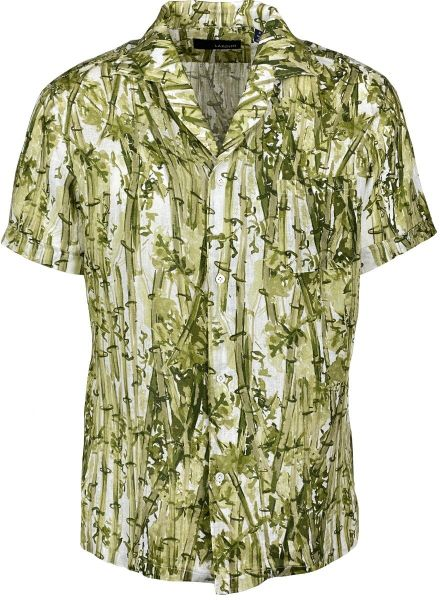 Lardini Short Sleeve Shirt - Green/White