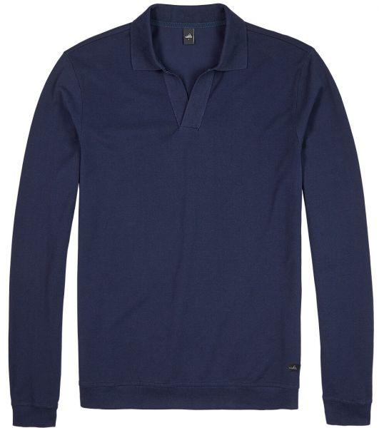 Wahts Longsleeve Retro Poloshirt - Night Blue
