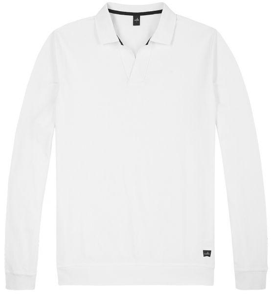 Wahts Longsleeve Retro Poloshirt - Pure White