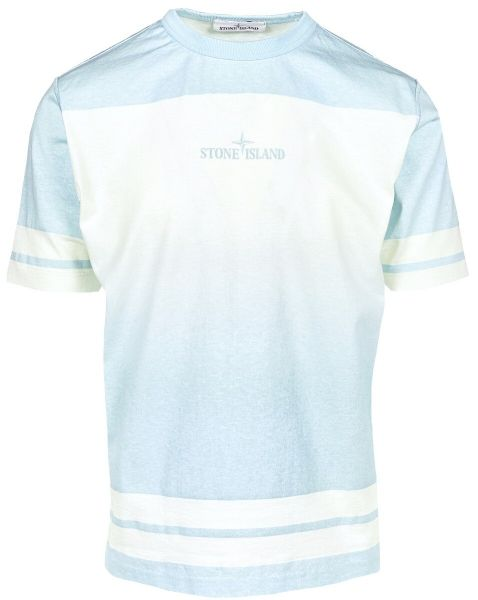 Stone Island Shaded Print T-Shirt - Light Blue