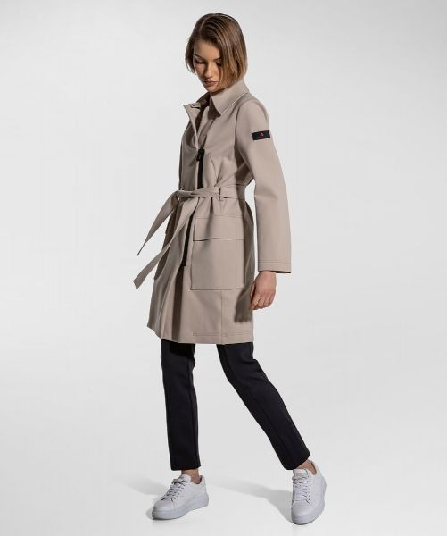 Peuterey Trench In Jersey Fabric Stretch Technico