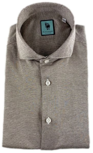 Xacus Luxury Stretch Shirt - Mid Brown