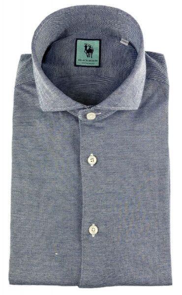 Xacus Luxury Stretch Shirt - Mid Blue