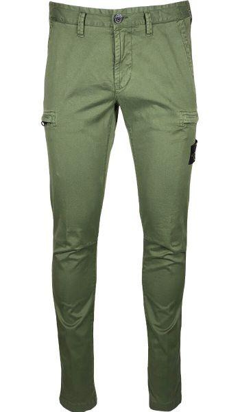 Stone Island Skinny Cargo Pants - Sage Green