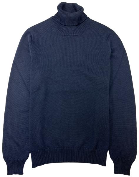 Cellini Wool Turtleneck - Dark Blue