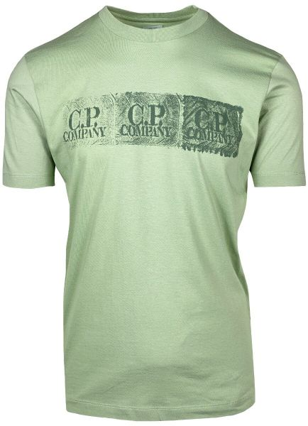 C.P. Company Distressed Logo T-Shirt - Tea
