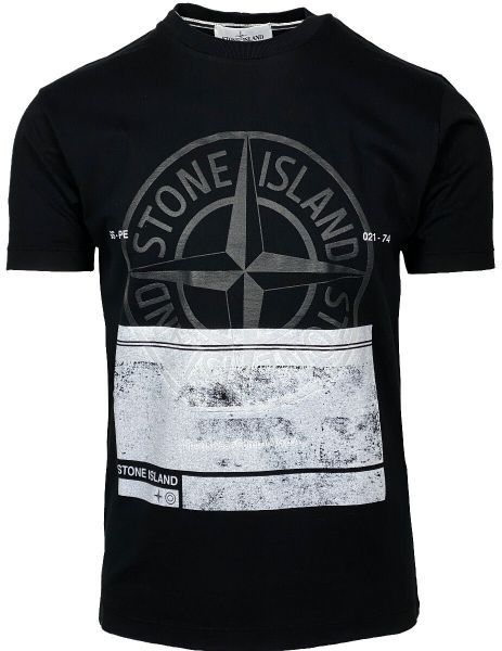 Stone Island Big Logo T-Shirt - Black