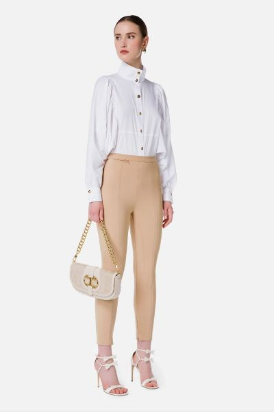 Elisabetta Franchi Blouse With Wide Sleeves - White