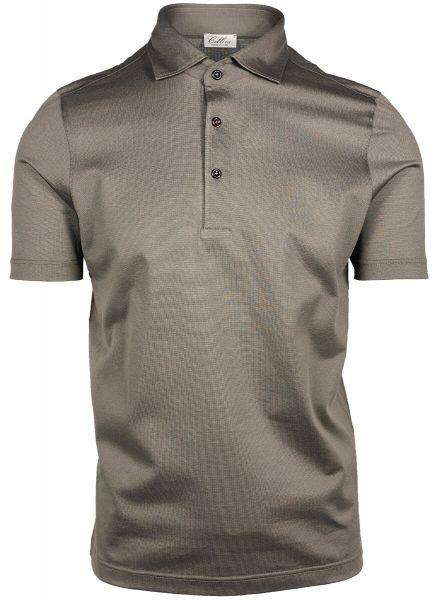 Cellini Cotton Polo Short Sleeve - Taupe