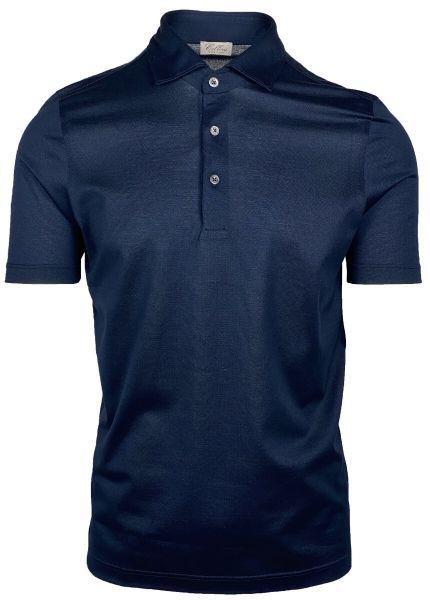 Cellini Cotton Polo Short Sleeve - Dark Blue