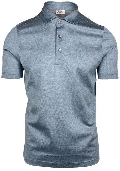 Cellini Polo Short Sleeve - Mid Blue