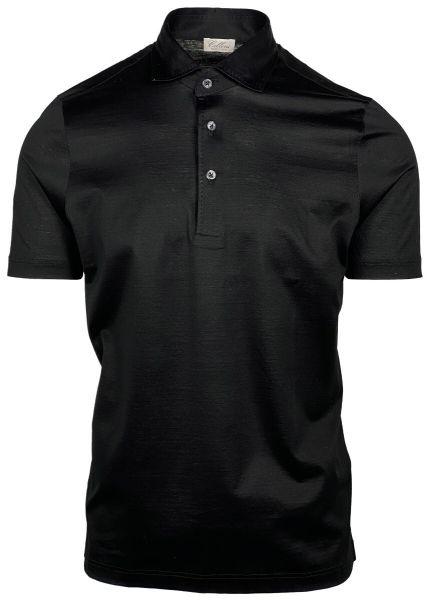 Cellini Jersey Cotton Polo - Black