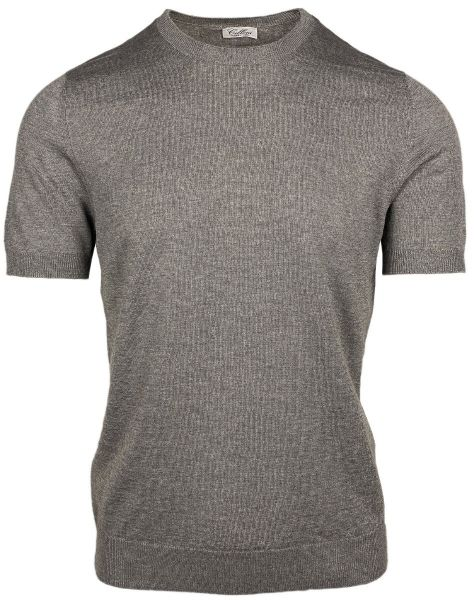 Cellini Knitted T-Shirt - Taupe