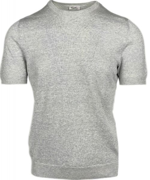 Cellini Knitted T-Shirt - Light Grey