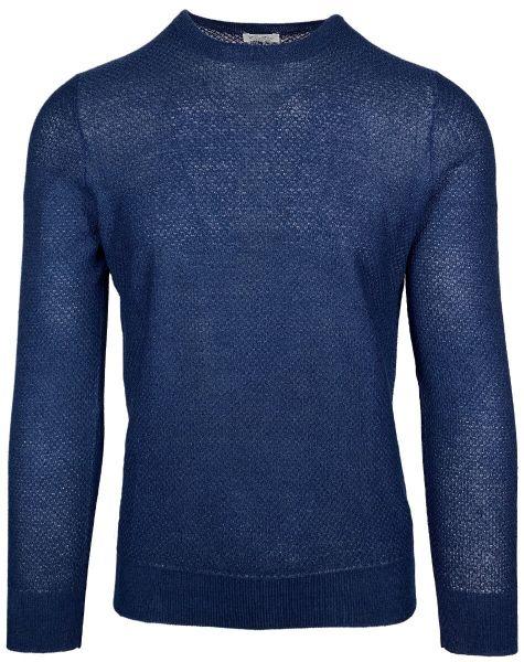 Cellini Linen/Cotton Pullover - Midnight Blue