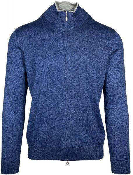 Cellini Cotton/Casherme Cardigan - Mid Blue