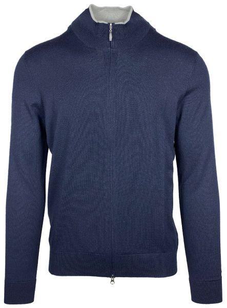 Cellini Cotton/Casherme Cardigan - Dark Blue