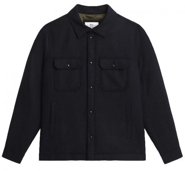 Woolrich Alaskan Wool Overshirt - Melton Blue