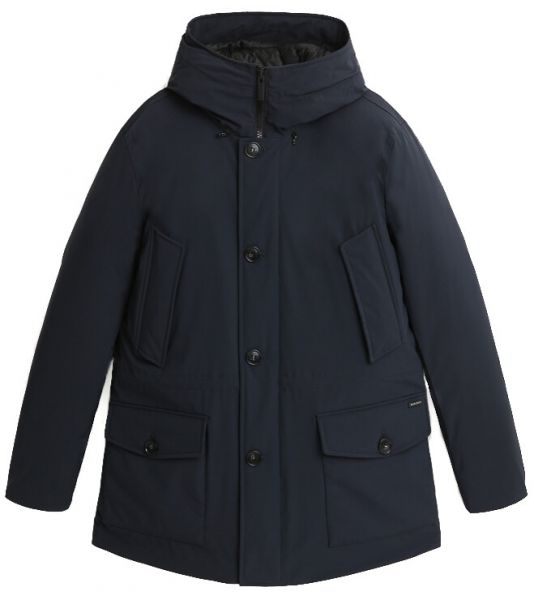 Woolrich Arctic Stretch Parka With Graphene Padding - Melton Blue