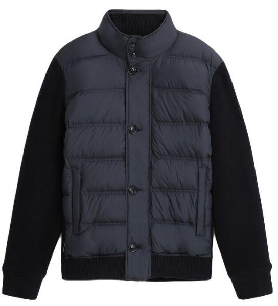 Woolrich Bonded Wool Full Zip - Melton Blue