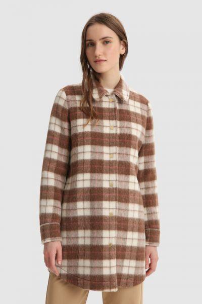 Woolrich Cozy Wool Overshirt - Woodwork