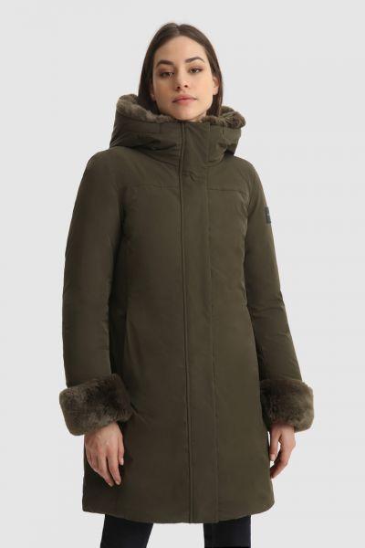 Woolrich Boulder Faux Fur Parka - Green