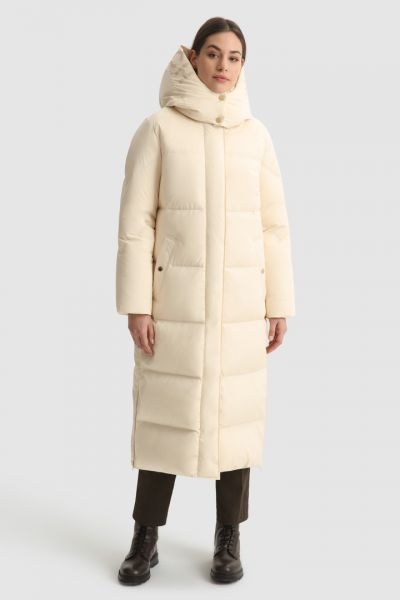 Woolrich Aurora Long Parka - Ivory