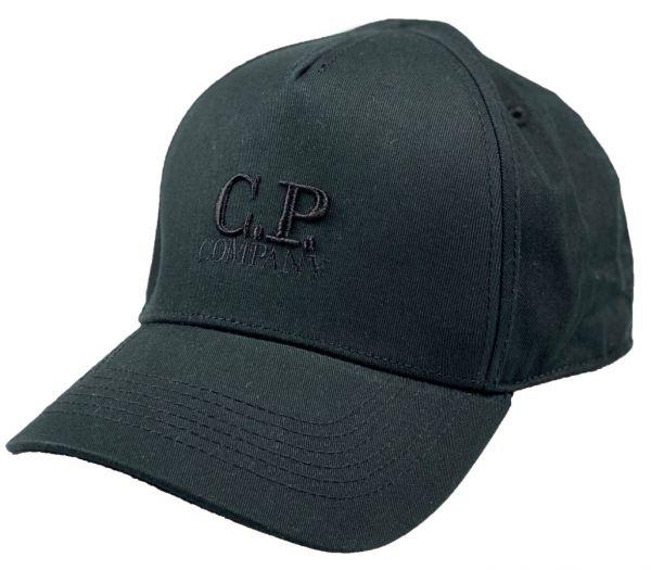 C.P. Company Gabardine Logo Cap - Black