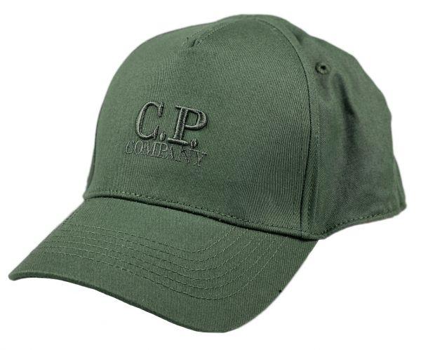 C.P. Company Gabardine Logo Cap - Laurel Wreat