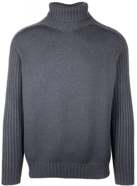 Cellini Rain Wool Turtlneck - Dark Grey
