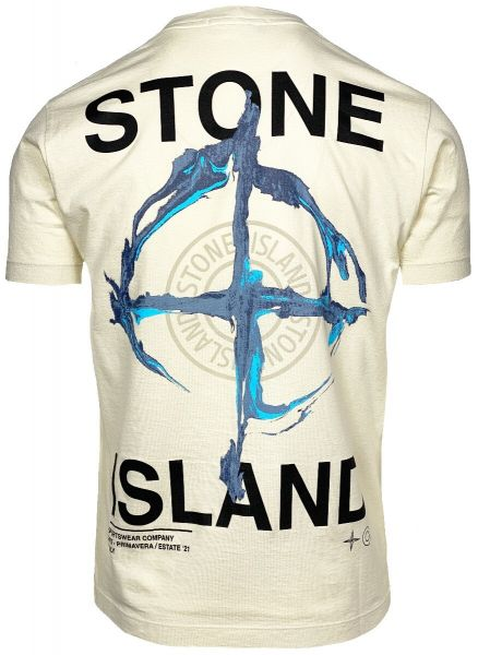 Stone Island Backprint T-Shirt - Ivory