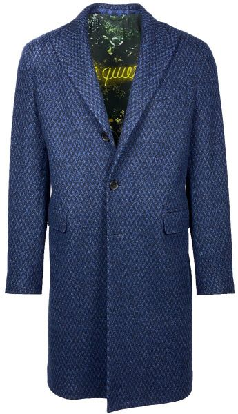 Etro Overcoat - Blauw