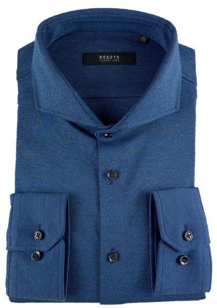 Desoto Luxury Pique Shirt - Indigo